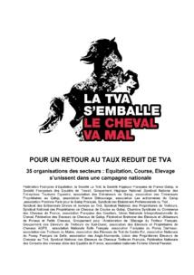 POUR UN RETOUR AU TAUX REDUIT DE TVA