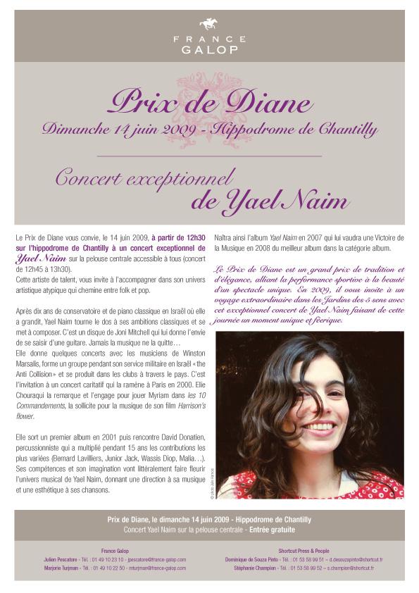 Prix de Diane - Concert exceptionnel de Yael Naim
