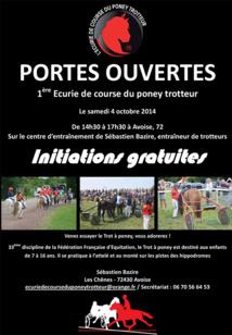 PORTES OUVERTES - 1ère Ecurie de course du poney trotteur