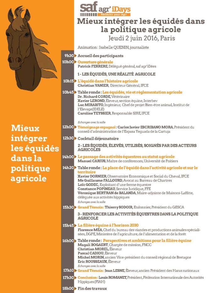 Mieux intégrer les équidés dans la politique agricole, rendez-vous le 2 juin