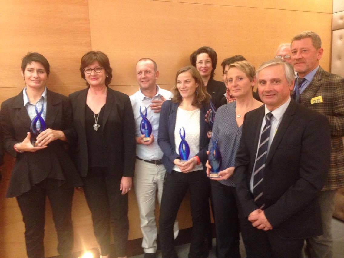 Les chefs d'entreprises de la filière équine récompensés au Sénat