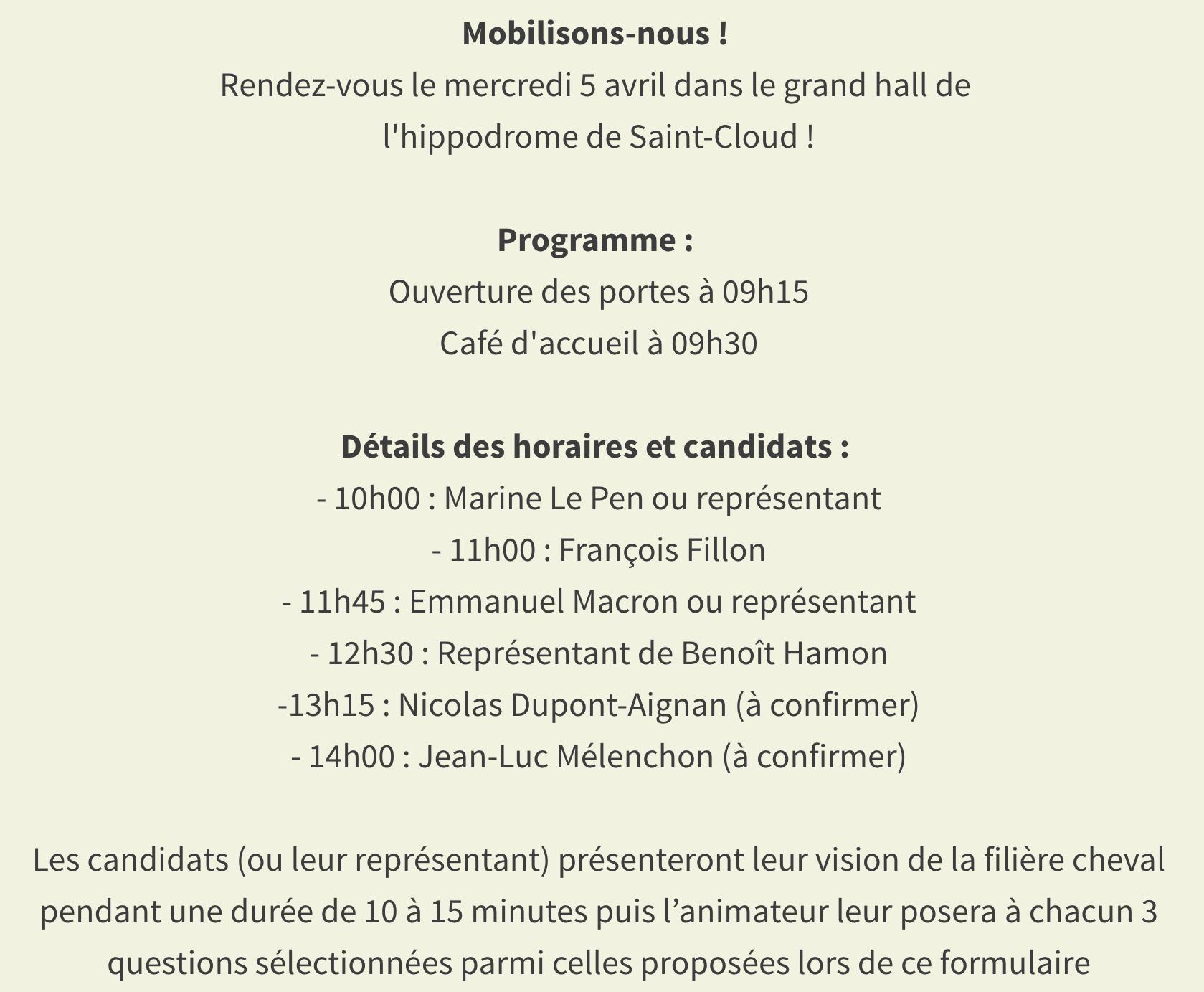 Venez à la rencontre des candidats aux présidentielles le 5 avril